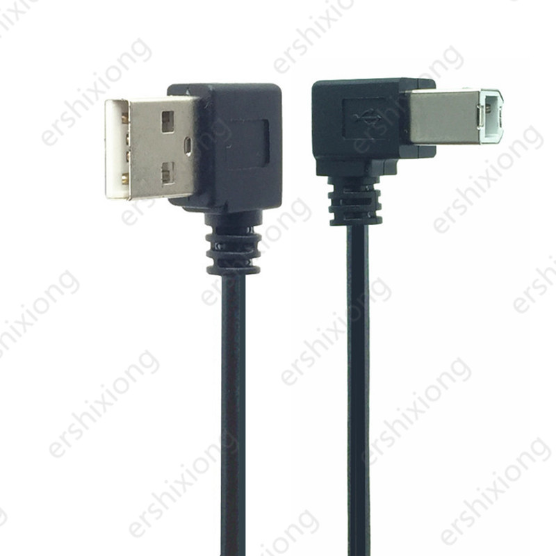 USB 2.0 Type A Male To USB B Male Type B BM Right Angle Printer Scanner 90 Degree 0.5M 1M 90 Degree Cable 50cm BM Angled Cable