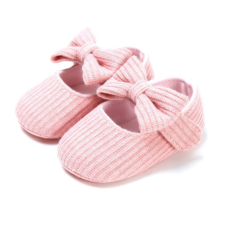 BOBORA Baby Girl Shoes Newborn Infant First Walker Cotton Soft Sole Princess Bowknot Shoes Toddler Baby Crib Shoes