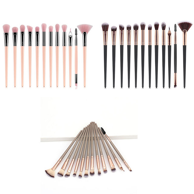 1-12Pcs Professional Makeup Brushes Set Powder Foundation Eyeshadow Eyeliner Make Up Brushes Cosmetics Blending Soft Maquiagem 4