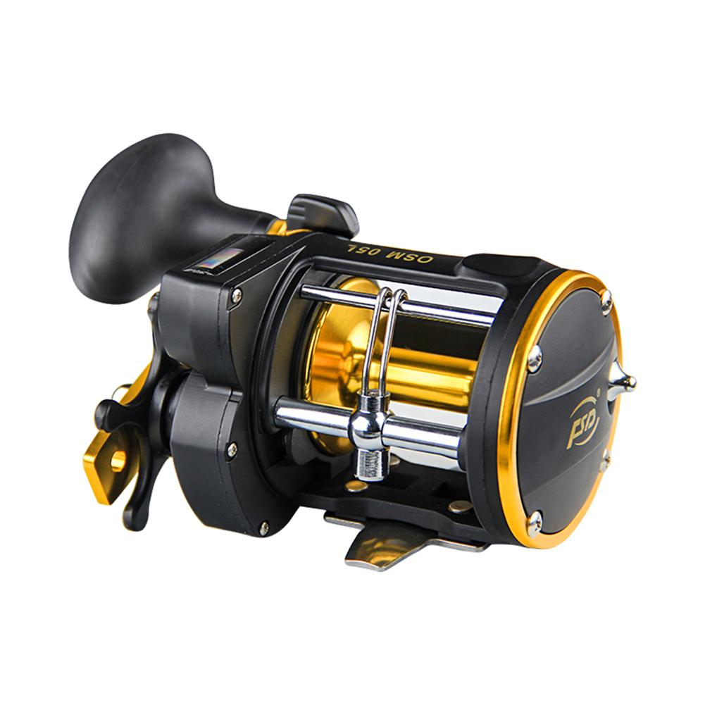HobbyLane Fishing Outdoor Gear 6 To 1 Fishing Reel 3BB Right Hand And Line Counter Drum Reel Multiplier Reel With Alarm