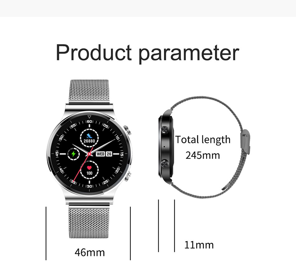 Hb1d3f4fefbd6444c950721d3ad71726c2 LIGE New Smart watch Men Heart rate Blood pressure Full touch screen sports Fitness watch Bluetooth for Android iOS smart watch