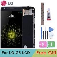 Оригинальный ЖК-дисплей для LG G5 H850 H840 H860 с кодирующий преобразователь сенсорного экрана в сборе с рамкой запасные части