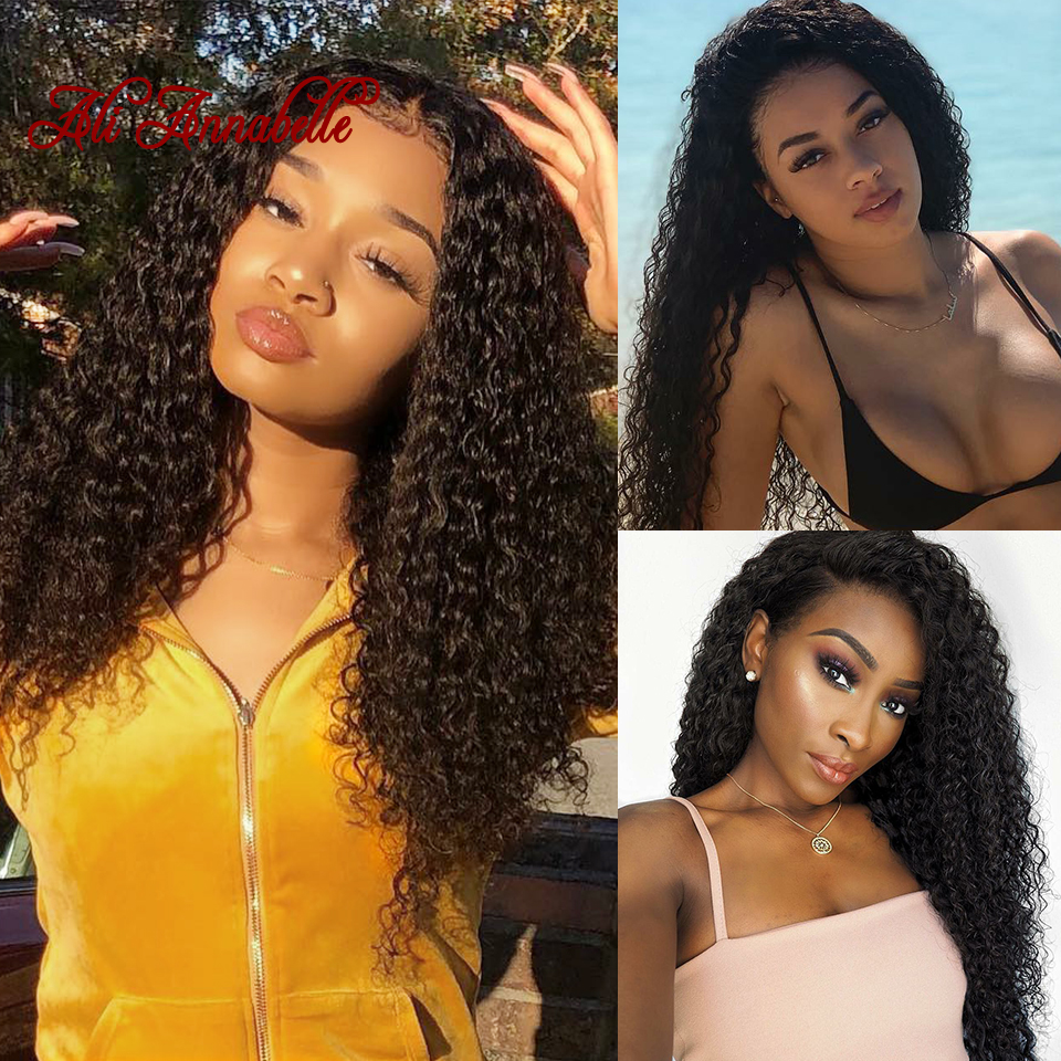 Hb1d417d098f24628b8b19b10724f84c6O Curly Human Hair Wig 4*4 5*5 Lace Closure Human Hair Wigs With Baby Hair Brazilian kinky Curly Hair Wigs ALI ANNABELLE HAIR