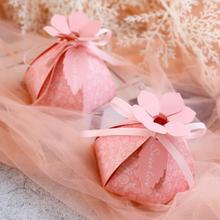 50 шт. розовый, красный, синий цветок топ Стиль Свадебные Сувениры Конфеты Коробочки bomboniera вечерние Подарочная коробка сахар giveaways шоколадная коробка