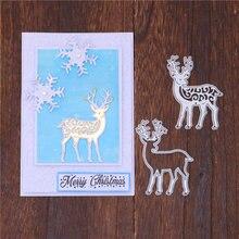 Inlovearts рождественские штампы олень металлические новинка
