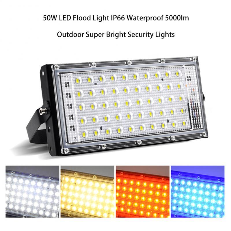 220V 50W LED Security Floodlight Flood Lights Indoor Outdoor Garden Waterproof Lamp Night Lighting