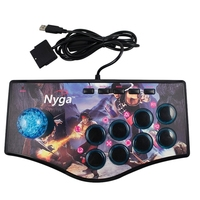 Retro Arcade Game Rocker Controller Usb Joystick For Ps2/Ps3/Pc/Android Smart Tv Built In Vibrator Eight Direction Joystick(No.A
