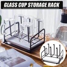 6 чашек кружка стеклянная подставка держатель сушильная Полка