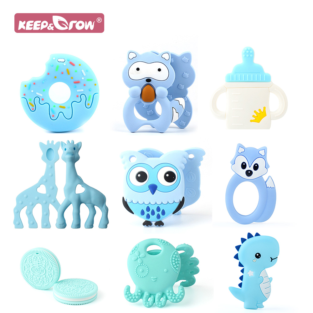 Keep&Grow Baby Teerhers 1pcs Food Grade Sillicone Baby Teething Product Can DIY Pacifier Chains Molar Teethers Baby Chewing Toys