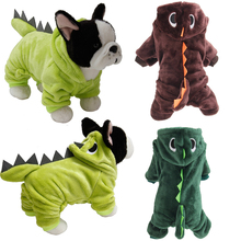 Dog winter clothes Halloween Dinosaur Costumes Pet Party Dress Holiday Clothes Winter For Dogs Puppy Small Cat D40