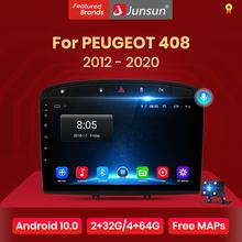 Junsun 4G+64G Android 10 For PEUGEOT 308 308S 408 2012 - 2020 Auto 2 din Car Radio Stereo Player Bluetooth GPS No 2din dvd