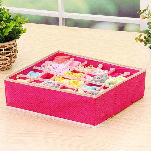 Underwear Storage Organizer Box for Socks Scarf Bra Grid Foldable Wardrobe Drawer 4