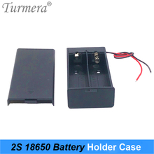 Turmera 3.7V 18650 Battery 2x Holder Connector Storage Case Box with ON/OFF Switch with Cable for Power Bank or Battery Pack Use 2xaa battery holder case box with cover xh2 54 2p cable switch