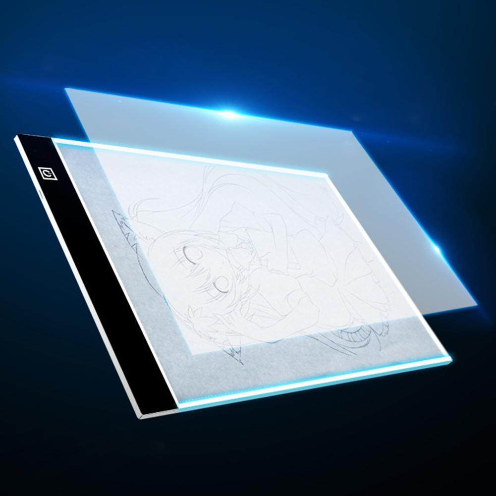 A4 Dimmable USB LED Drawing Tablet Digital Graphics Pad Drawing Board Copy Art Electronic Graphic Painting Desk Writing