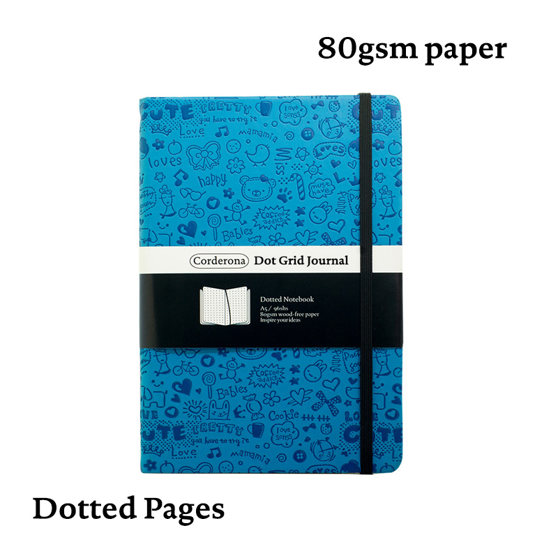 Dotted Bullet Notebook Dot Grid Journal Hard Cover Diary A5 Bujo Travel Planner