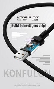 Image 3 - 2A Led Usb Kabel Micro Snel Opladen Datakabel Oplader Voice Control Led Kabel Voor Mobiele Telefoon DC09