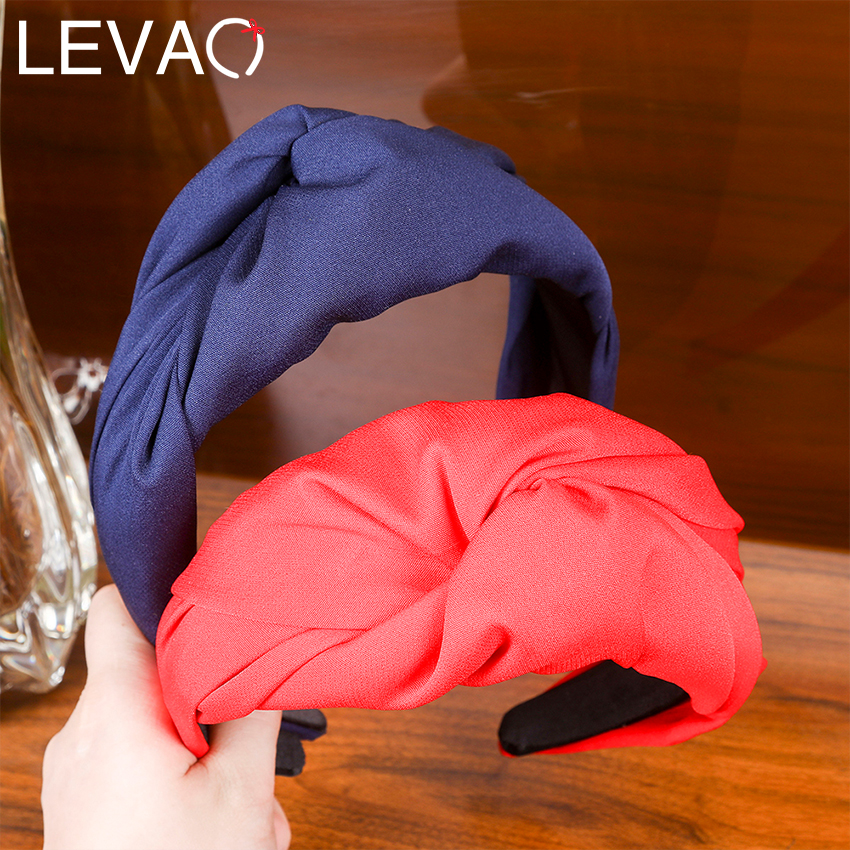 Levao 2019 Korea Style Headband For Women Party/Photography Pure Color Middle Cross Wide-brimmed Hair Hoop For Ladies Girl