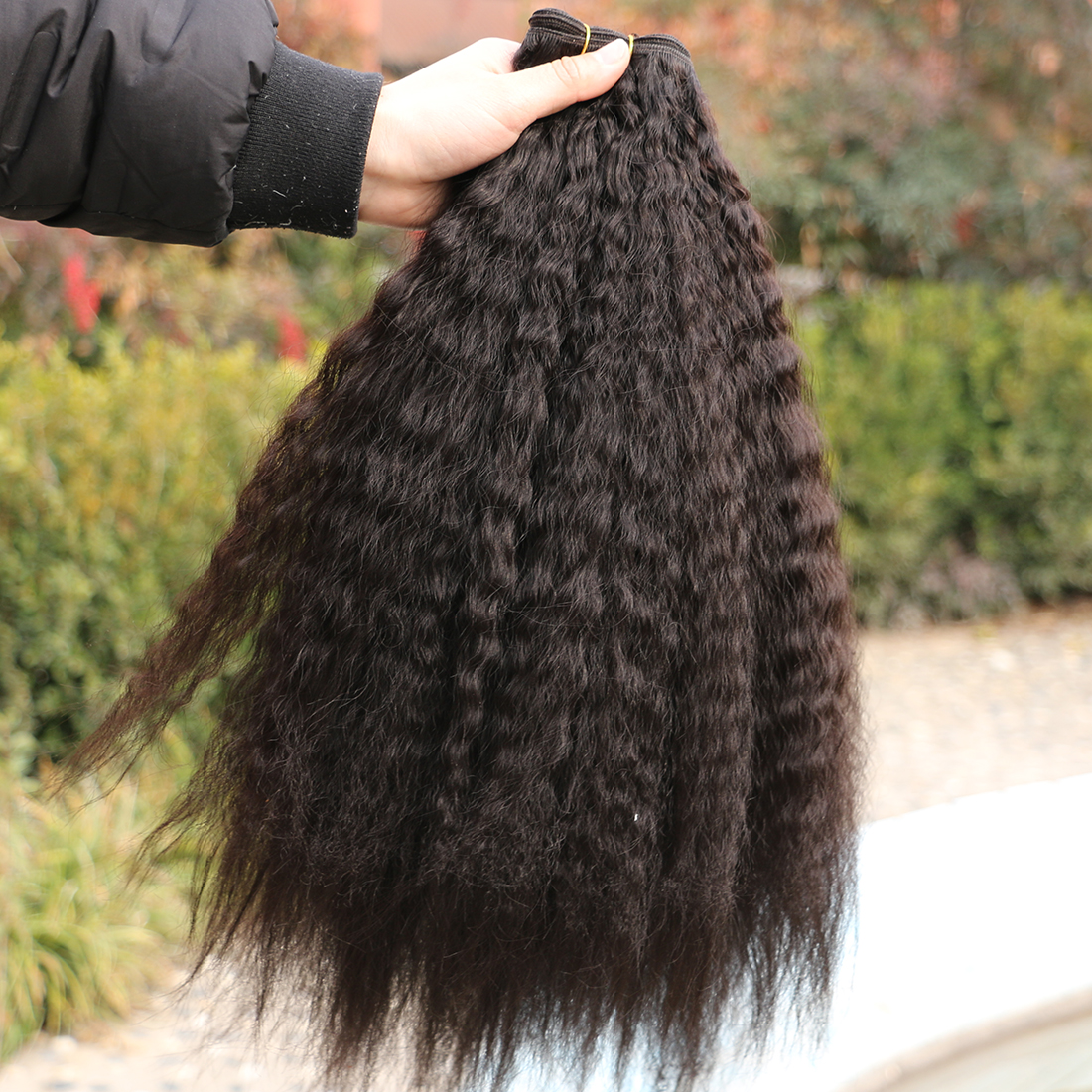 Fsr 3 unidades pacote kinky cabelo reto