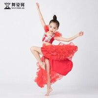 Dance wing children's belly dance skirt performance clothing 2019 performance clothing suit modern dance clothing rt389