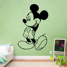 Disney Mickey Mouse Wall Decals Interior Nursery Kids Room Decor Cartoon Wall Sticker Kids Baby boy  Room Bedroom Accessories цены