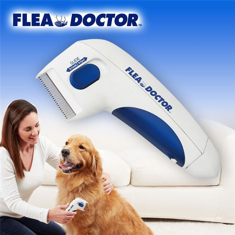 Pet Cat Dog Electric Terminator Brush Anti Removal Kill Lice Cleaner Electric Head Pet Fleas Electronic Lice Comb For Dog