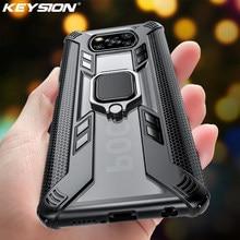 KEYSION przezroczysty, odporny na wstrząsy futerał na zbroję dla Xiaomi POCO X3 NFC M2 Pro stojak pierścieniowy telefon tylna pokrywa dla POCO X3 NFC X2 F2 Pro