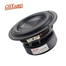 GHXAMP 4 Inch Woofer Speaker Hifi Subwoofer Aluminum Oxide Disc Bass Horn Trumpet infective powerful 40W 67Hz - 3500Hz