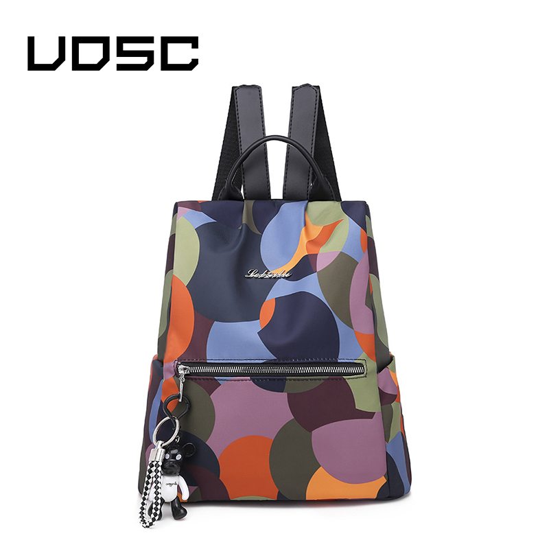 UOSC Casual Backpacks For Girl Fashion Womens Multicolor Shoulder Bag Leisure Travel Bag Summer Ladies Backpack Mochila Mujer