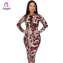 2020 сексуальное Сетчатое облегающее платье миди со змеиным