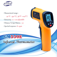 BENETECH GM550E Digital non contact IR infrared thermometer Laser SensorTemperature Meter 50~550C adjustable 0.95 pyrometer