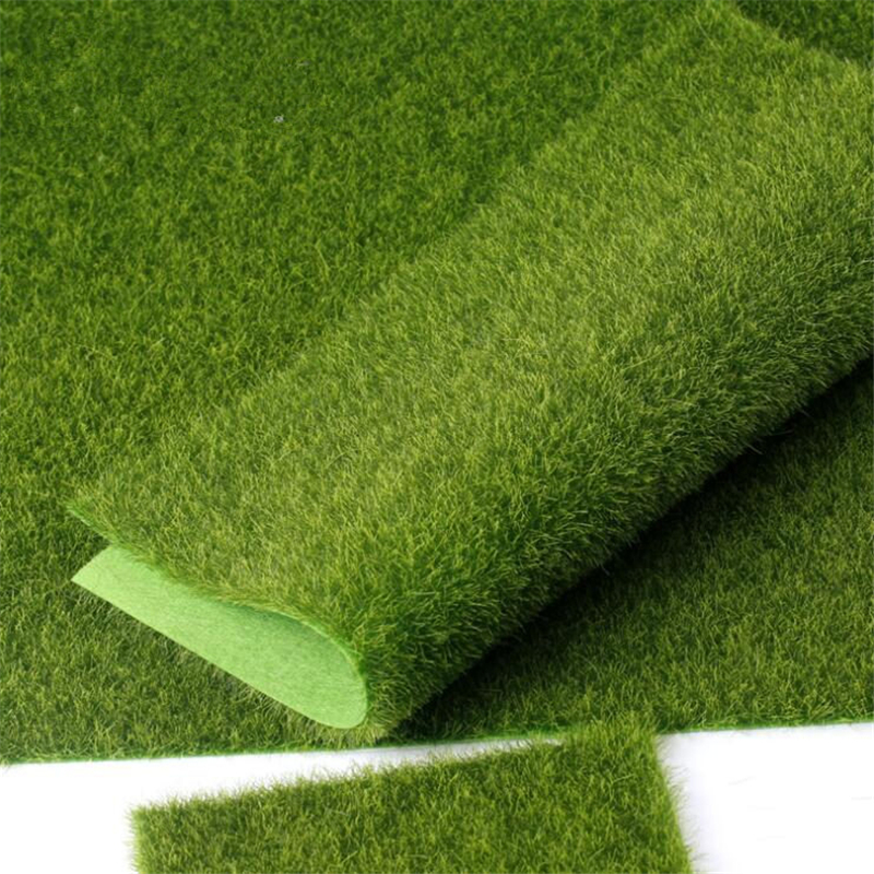 Artificial Grass Carpet Real Touch Artificial Plants Lawn Moss Fake Grass Mat Farmhouse Decor 30X30CM 1pc
