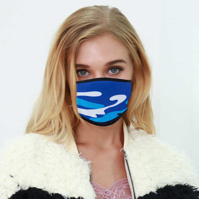 5pcs Leopard Acrylic & Spandex Black Mouth Mask Anti Dust Mask Activated Windproof Mouth-Muffle Bacteria Proof Flu Face Masks 3