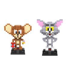 hot LegoINGlys creators American Cartoon Cat and Mouse Tom Jerry Animal mini Micro Diamond Building Blocks model Brick toys gift