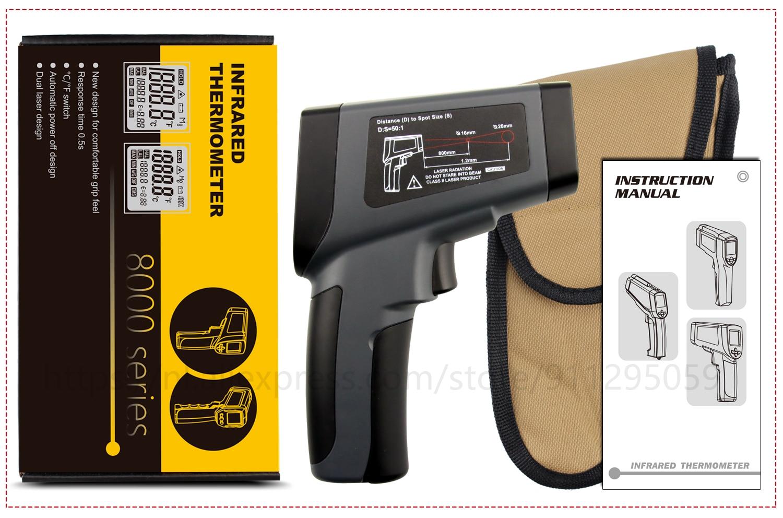 Kaemeasu Digitale Infrarood Thermometer -50 ~ 1600 Meetbereik, Non-contact, Veiligheid, Koken, industriële Elektronische Thermometer Pistool 27