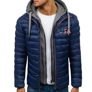 Zogaa homens com capuz jaquetas de inverno crânio eua impressão dos homens casaco bolha plus size S-XXXL calorosamente roupas masculinas jaqueta puffer