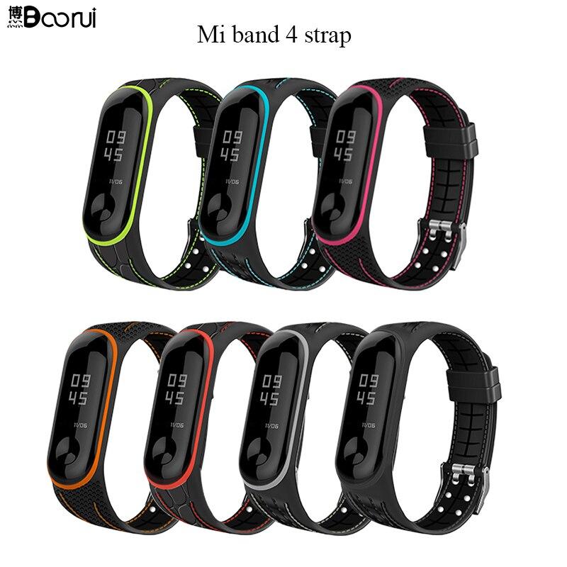 BOORUI Mi Band 4 Strap Correa Mi Band 3 Breathable Strap For Xiaomi Mi Band 4 Multicolorful Sports Strap For Xiaomi Miband 3
