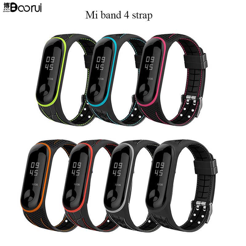 Boorui Mi Band 4 5 Strap Correa Mi Band 3 Breathable Strap For Xiaomi Mi Band 5 Multicolorful Sports Strap For Xiaomi Miband 3 Smart Accessories Aliexpress