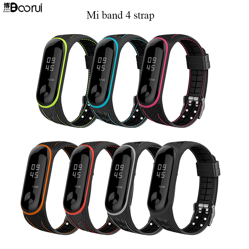 BOORUI Mi Band 4 Strap Correa Mi Band 3 Breathable Strap For Xiaomi Mi Band 4 Multicolorful Sports  Strap For Xiaomi Miband 3