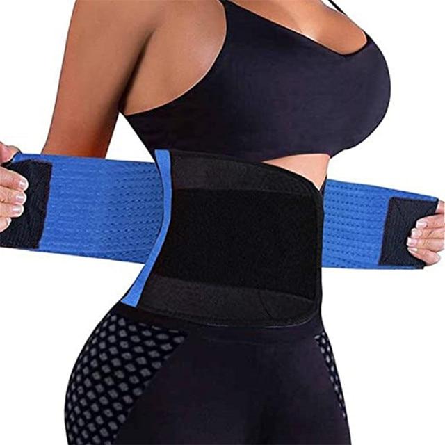 In Stock ! Adjustable Waist Back Support Waist Trainer Trimmer Belt Sweat Utility Belt for Sport Gym Fitness Weightlifting LWT 3