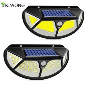 120/122 Leds COB Solar Light With 3 Working Mode Solar Motion Sensor Lights IP65 Waterproof Solar Lamp For Yard Garden Wall