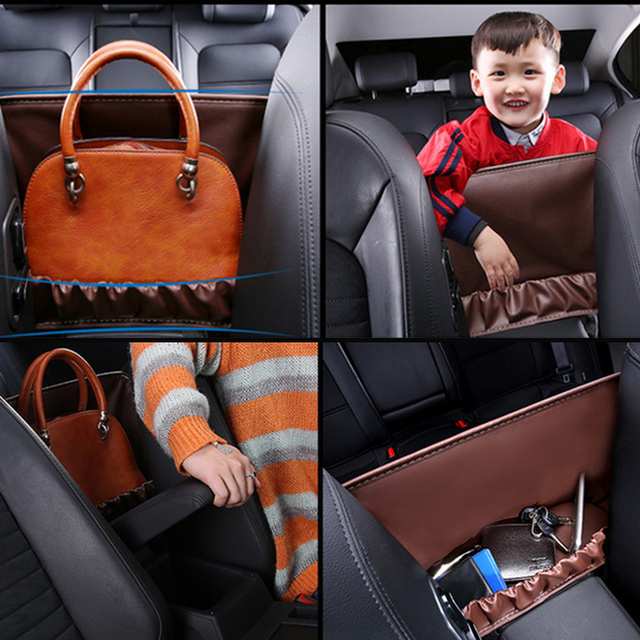 En cuir Accoudoir De Siège de Voiture Sac De Rangement Boîte Pour Peugeot 206 307 407 308 208 3008 Toyota Corolla Yaris Rav4 Avensis Mini Cooper