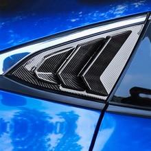 2 шт. Черный углеродного волокна окна автомобиля треугольник планки Стайлинг для Honda Civic 10th аксессуары