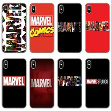 Luxury marvel logo comics Accessories phone case For Xiaomi Redmi S2 6 6A 5 plus 5A 4X 4A 3 Note 6 5A 5 pro 4 3 2(China)