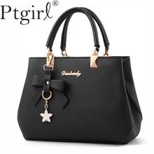 Fashion New 2019 Elegant Shoulder Bags Women Designer Luxury Handbag Cross-body Bag Plum Bow Sweet Messenger Crossbody