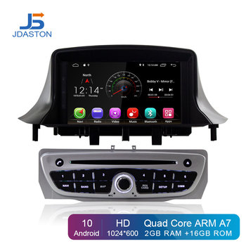JDASTON Android 10 Car DVD Player For RENAULT Megane III Fluence Wifi GPS Navigation 1 Din Car Radio Stereo multimedia Headunit image