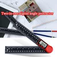 0-200mm 8'' Digital Meter Angle Inclinometer Angle Digital Ruler Goniometer Protractor Angle finder Measuring Tool