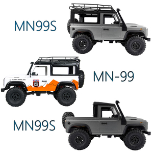 1:12 Scale MN Model RTR Version WPL RC Car 2.4G 4WD MN99S MN99-S RC Rock Crawler D90 Defender Pickup Remote Control Truck Toys