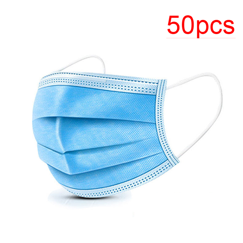 Wholesale 50 Piece Disposable Masks Dental Earhook Surgical Masks Dustproof Bacteria Pollution Antivirus Infection Masks