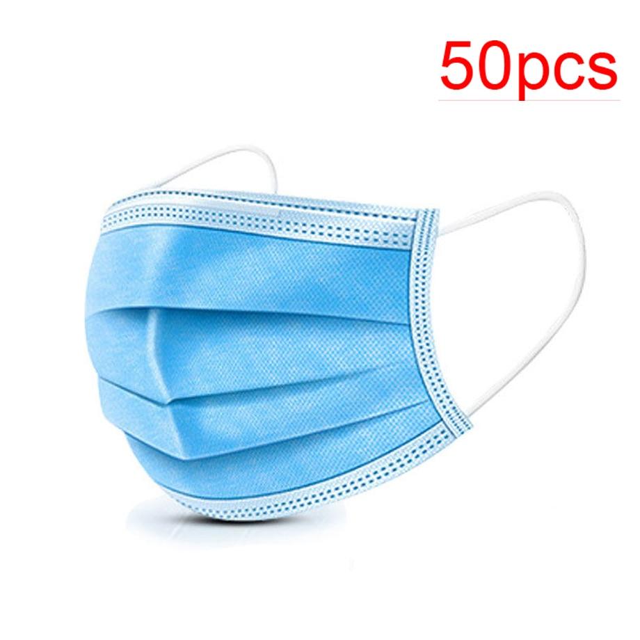 Wholesale 50 Piece Disposable Masks Dental Earhook Surgical Masks Dustproof Bacteria Pollution Antivirus Infection Masks