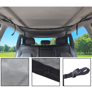 Image 4 - Car Ceiling Mesh Storage Bag Roof Interior Cargo Universal Mesh Bag Can Expand The Sundries Toy Mesh Cloth Storage Bag
